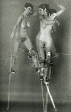 Krzysztof Pruszkowski,   Doloreze Echassses (Female Nude on Stilts), 1984