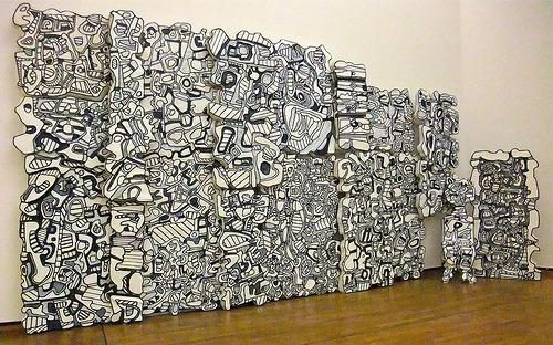 "Jean Dubuffet: ""Le mur bleu"" (1967) (by  Bharfot )"