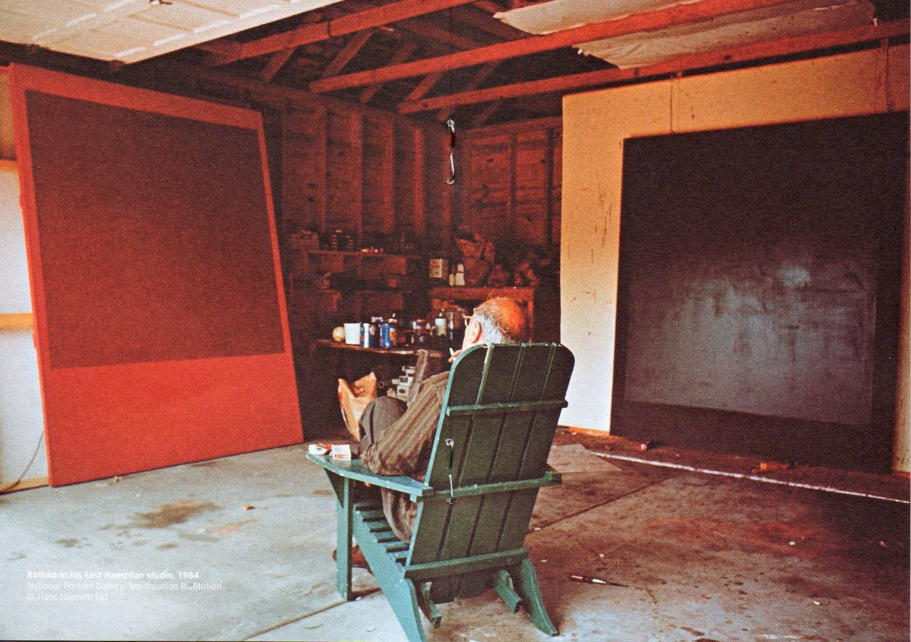 Mark Rothko in his studio.