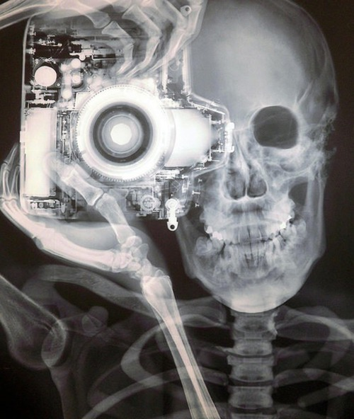 Nick Veasey shot this incredible image. Too bad X-Ray mode doesn't come standard on all Olympus cameras.