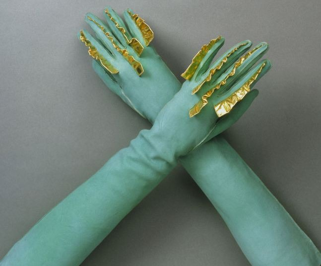 Gloves from Schiaparelli's Spring-Summer 1939 collection.