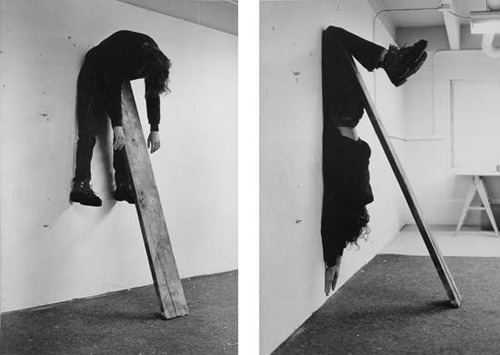 Charles Ray   Plank Piece I and II , 1973  Gelatin silver prints, printed 1992, 76.3 x 101.7 cm