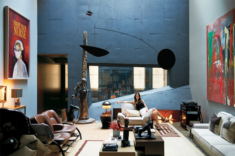 Lindemann-Dayan house by David Adjaye   An extravagant house fit for an art dealer, Amalia Dayan, with a sizable collection of contemporary art. It sure helps that Adam Lindemann is the son of billionaire George Lindemann.