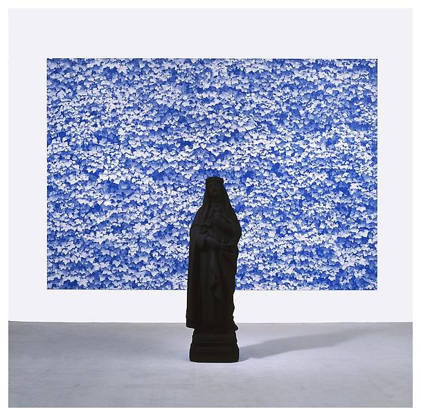 Katharina Fritsch -  St. Katharina and 2nd Photo (Ivy)  (2006-07),polyester, acrylic, and oil-based ink and acrylic on plastic panel