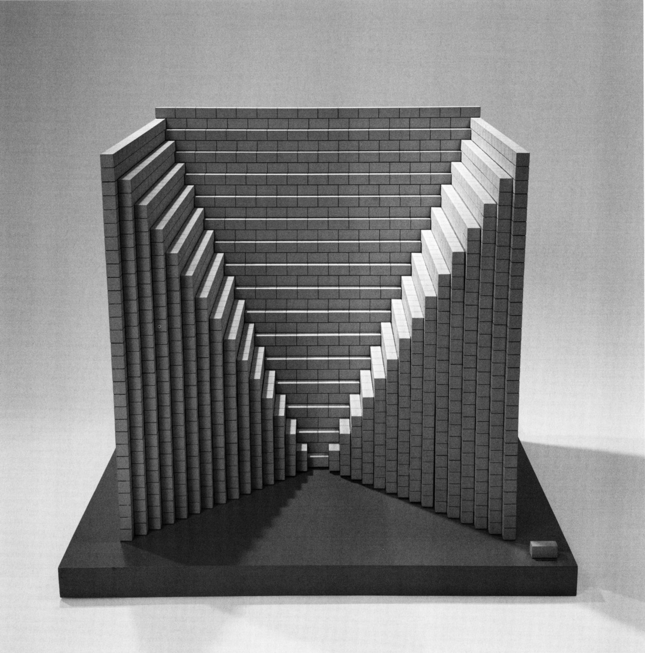 Sol LeWitt , ' Negative Pyramid' , Maquette for Concrete Block Structure, 1996.
