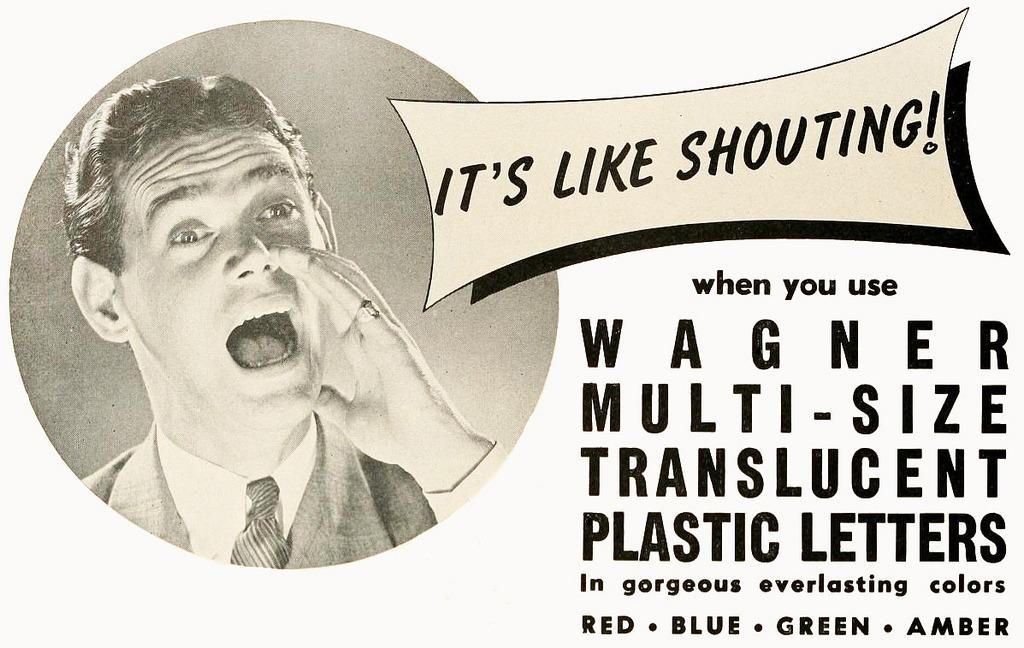 mudwerks :     wagner movie marquee plastic letters 1947 (by  Captain Geoffrey Spaulding )
