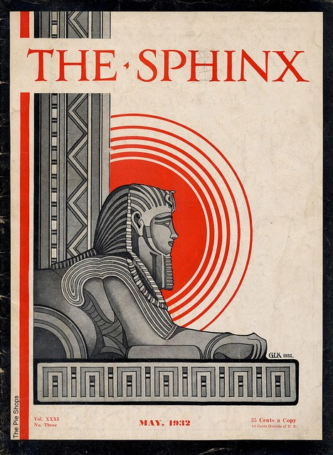 oxane :      The Sphinx  by  The Pie Shops    May 1932  An Independent Magazine for Magicians   Some articles include:  Harland Tarbell's Note-Book Page  Light Wines and Beer  A New Torn and Restored Newspaper Effect  Who's Who in Magic  Them Wuz The Days  The No-Assistant Vanishing Alarm-Clock