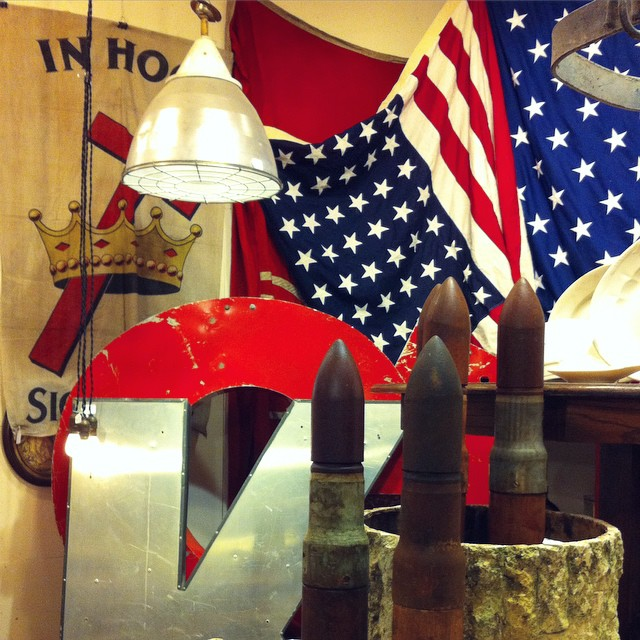 Talk about American spirit... #USA #America #memorabilia #atx #austin #UncommonObjects #flag #usflag #bullet #antique #vintage
