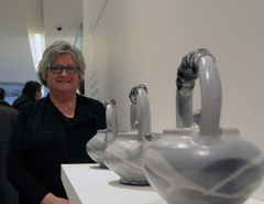 Teresa Dunlop at Sheridan College's Graduate Exhibition at the Gardiner Museum Toronto, Canada