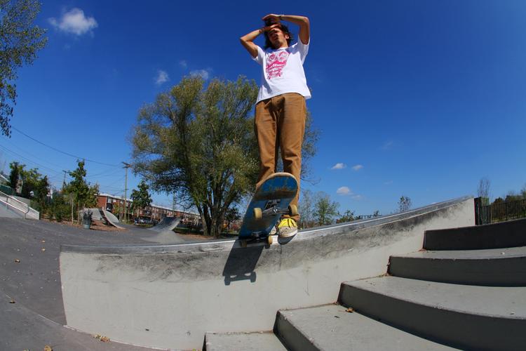 Skateboarding Pink Skull Moustache