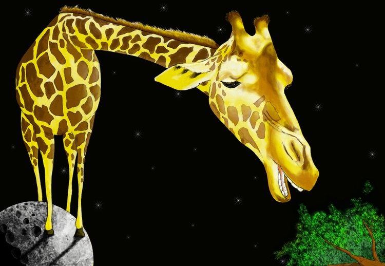Giraffe on the Moon