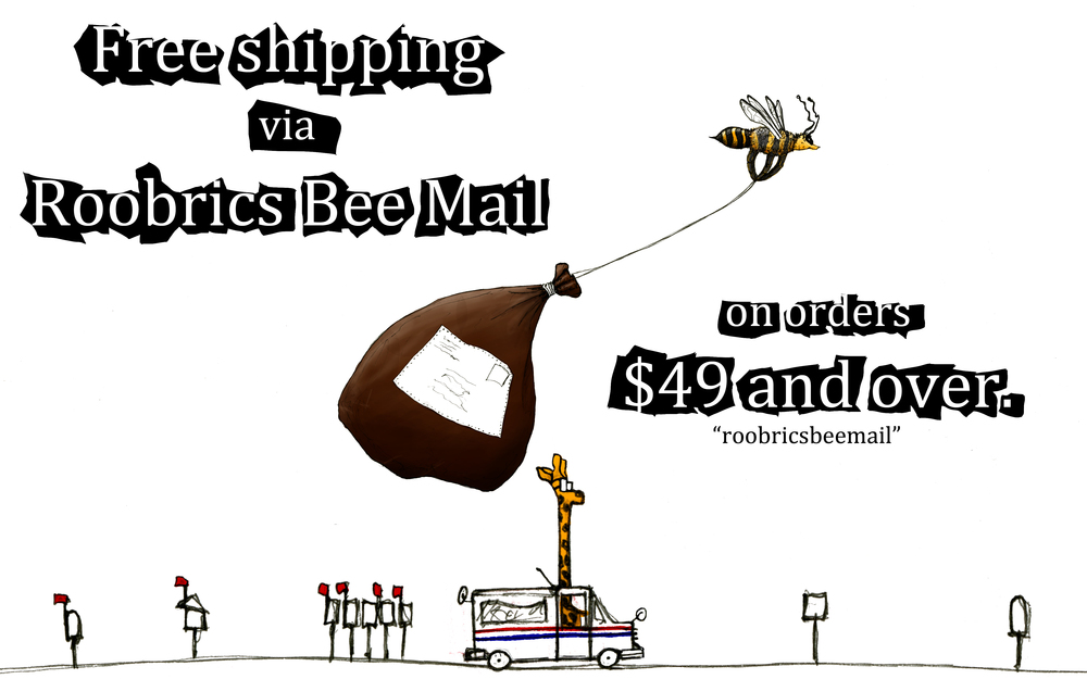 Free shipping Bee and Giraffe Mail