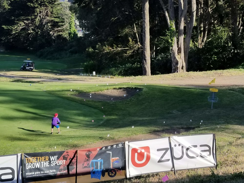 AFTER THE FINAL ROUND OF THE 2018 SFO, A YOUNG GOLFER PRACTICES MAKING THE WINNING PUTT OF THE 18TH HOLE.  AND THE MAGIC GROWS.