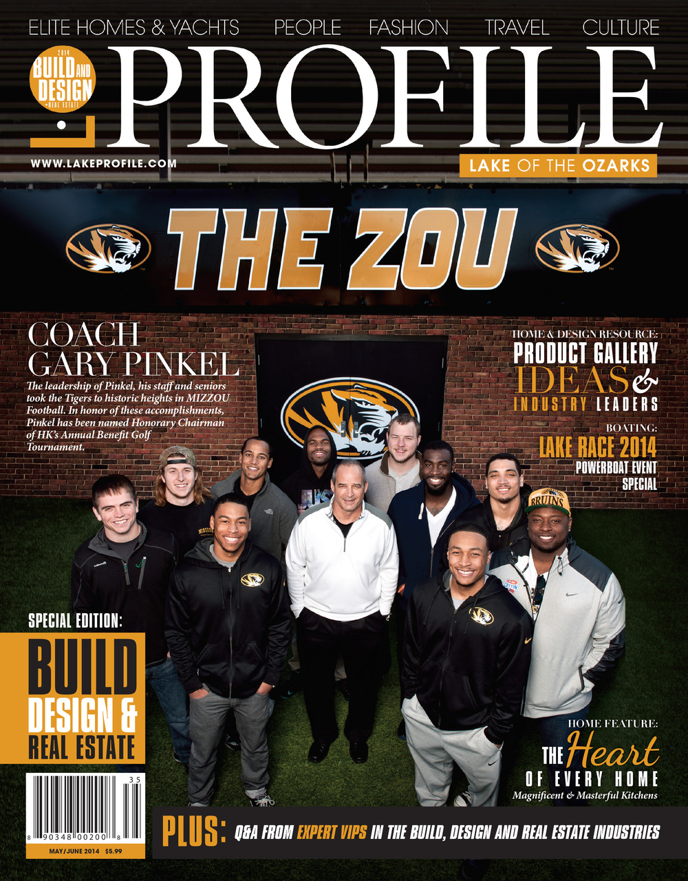 Coach Gary Pinkel with his 2014 Senior Lineup | College Sports