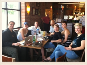 Some members of Sacred House out for lunch after one of our Gathers.