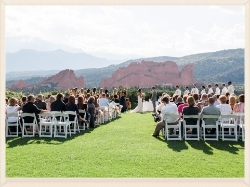 Officiating at Garden of the Gods in Colorado Springs.  Rachel Havel Photography.