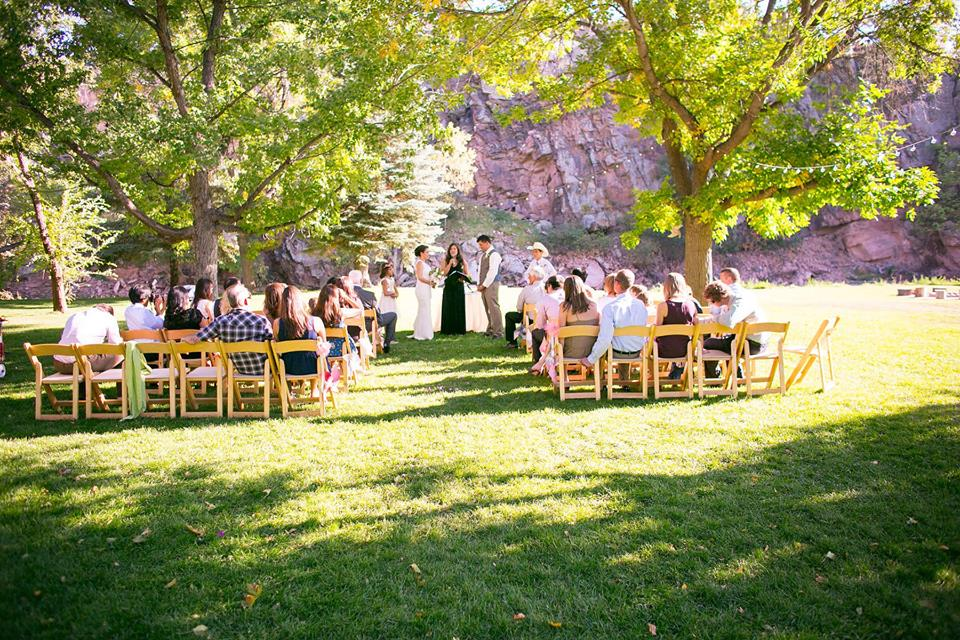 Nikki & Scott chose the  Riverbend  lawn as their ceremony site.