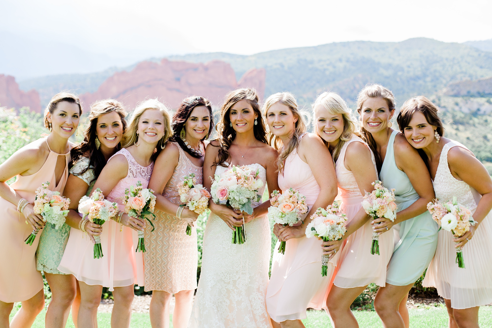 A bridal party of eight...