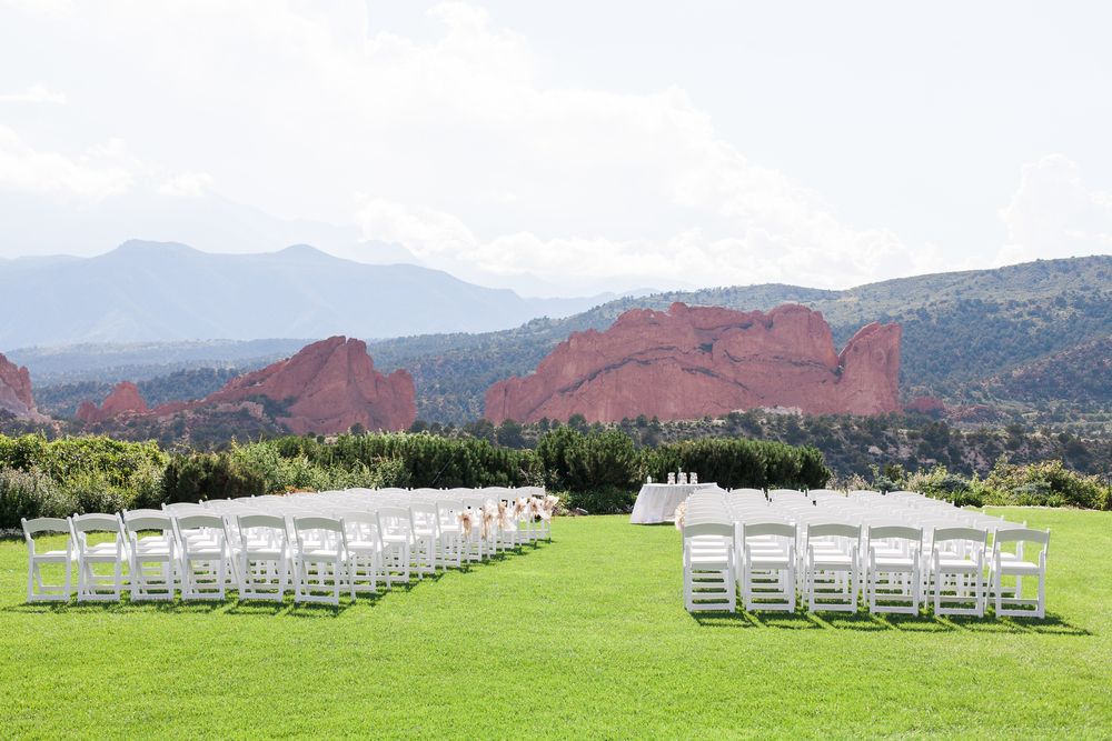 Ceremony site at Garden of the Gods Club - yeah, that's pretty gorgeous.
