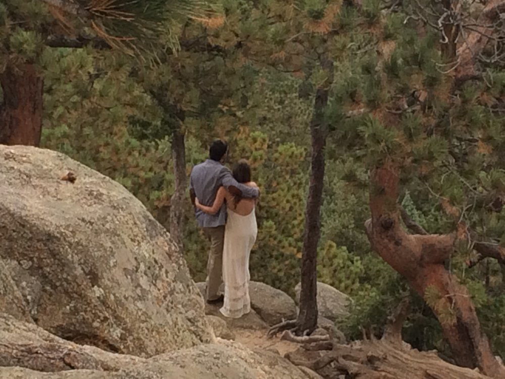 A photo from one of my Colorado Elopement Package ceremonies on top of Flagstaff Mountain in Boulder, CO at Artist's Point