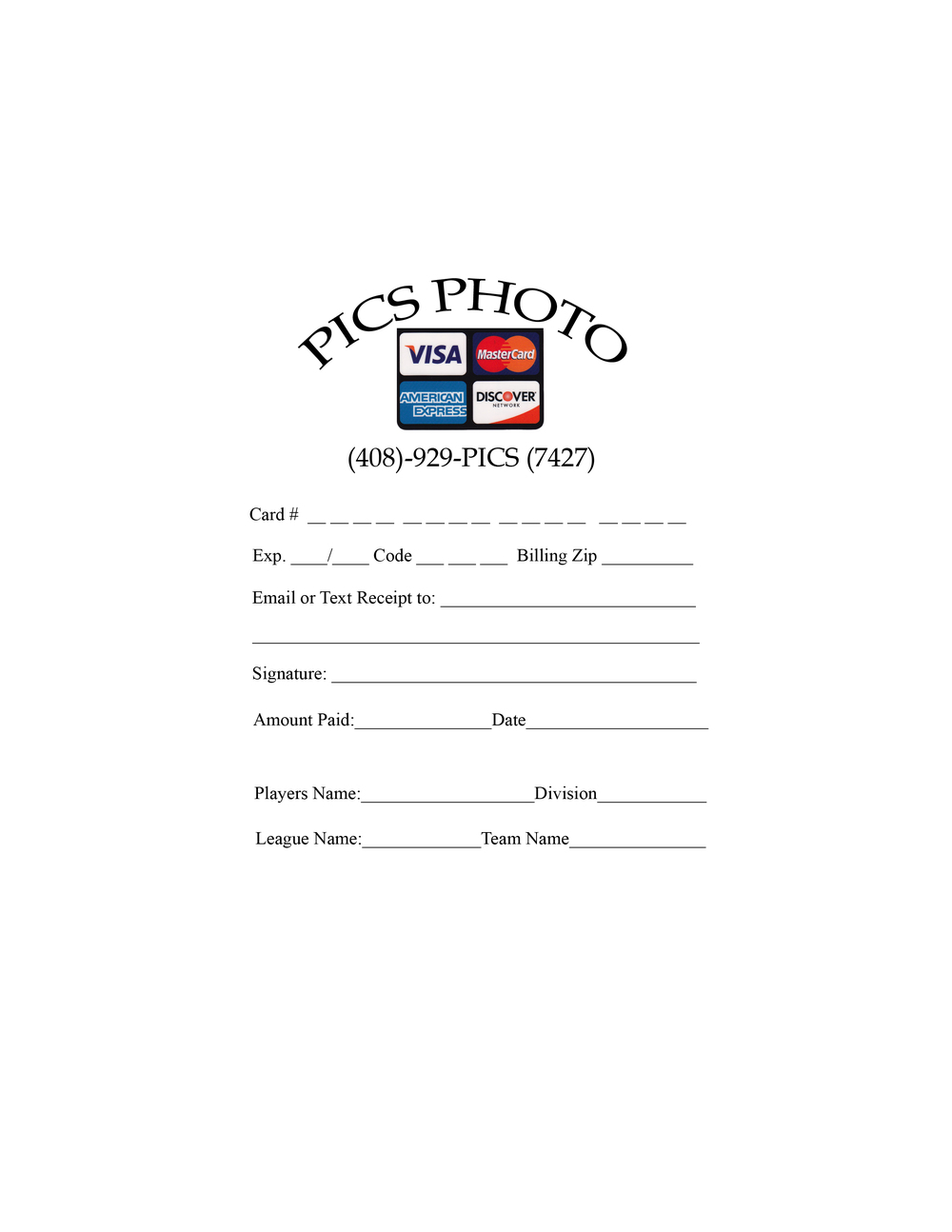 order forms downloads pics sports event photography