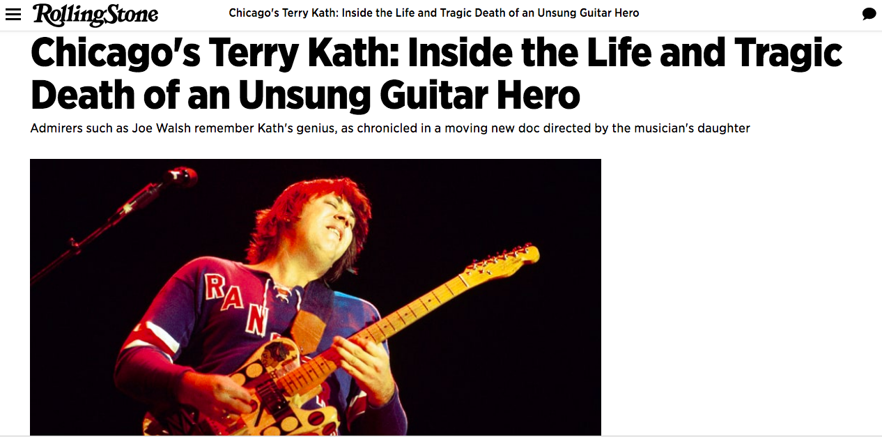 The Rolling Stones Article — The Terry Kath Experience