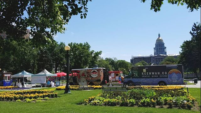 Happy Tuesday, Denver! We are here to kick off the Civic Center EATS week with a bunch of other wonderful trucks. Come down and say hi! #keenwahco #quinoa #foodtruck #denverfoodie