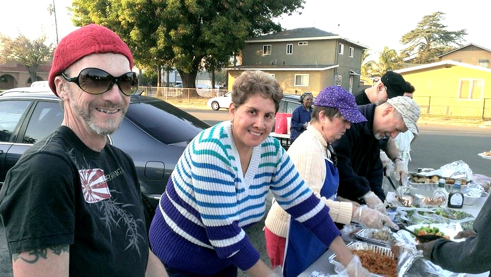 Parishioners feed the homeless on New Year's Eve