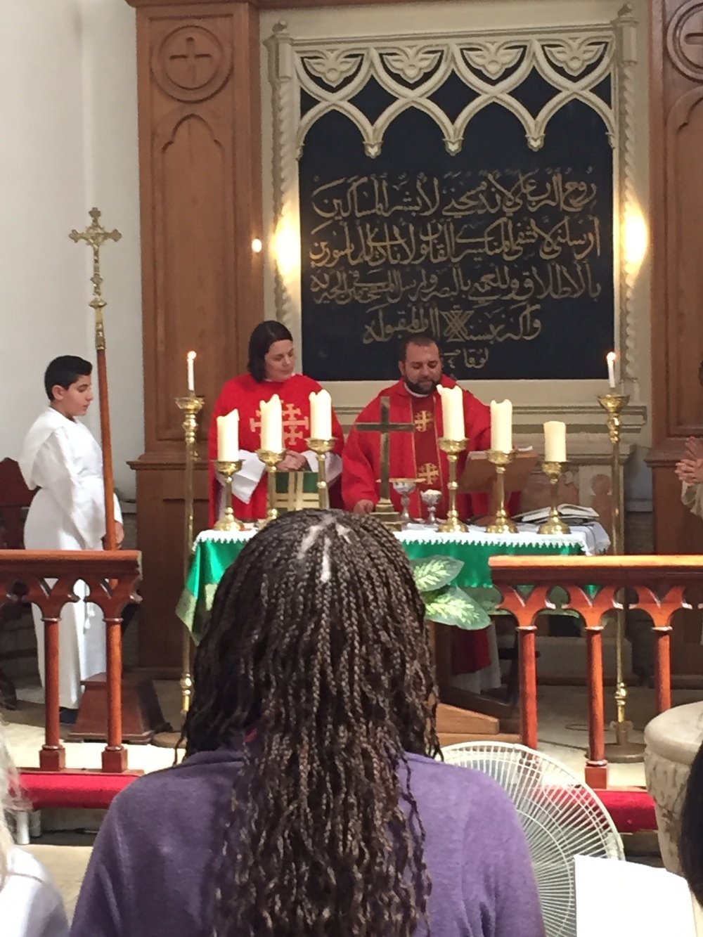 Eucharist at Christ Church, Nazareth