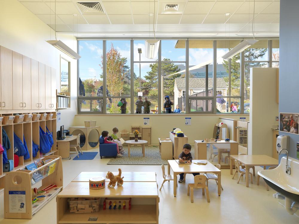 Classroom Wall Design For High School ~ University of massachusetts child care center — d w