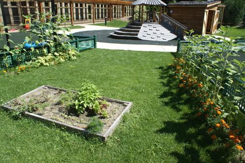 Vegetable garden at  Williams College Children's Center