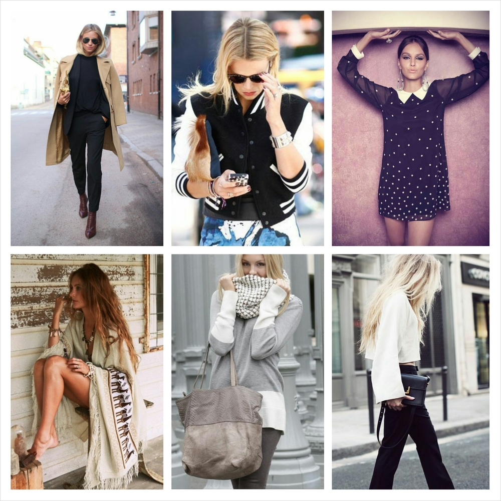 (ALL IMAGES VIA  PINTEREST)  GET THESE LOOKS.....  LONG JACKET:  HERE   HERE   HERE   LETTERMEN JACKET:  HERE   HERE   60'S DRESS:  HERE   HERE   BLANKET SWEATER:  HERE   HERE   GRAY EVERYTHING:  BAG  /  BOOTIES  /  SWEATER   BLACK AND WHITE:  BOOTS  /  PANTS  /  SHIRT  /  BAG