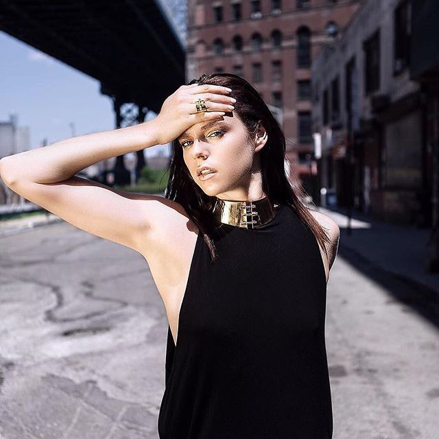 #Repost - ing this beauty ✨ @vallaskarides ・・ amazing team. jewelry by @gabrielamorajewelry  Photo @javierperezpichel  Model @bronjol  Dress @susanacolina  #soy #dress #phoenix #sustainablefashion #sustainableliving #lbd #nyc #brookyln #dumbo #photoshoot