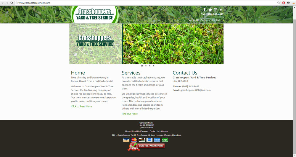 "<a href=""http://www.yardandtreeservice.com/"">GrassHoppers Lawn Services</a>"