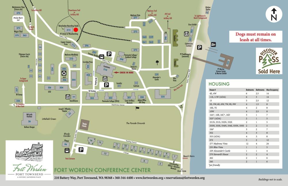 Fort Worden Map Maps — Port Townsend School of Woodworking Fort Worden Map