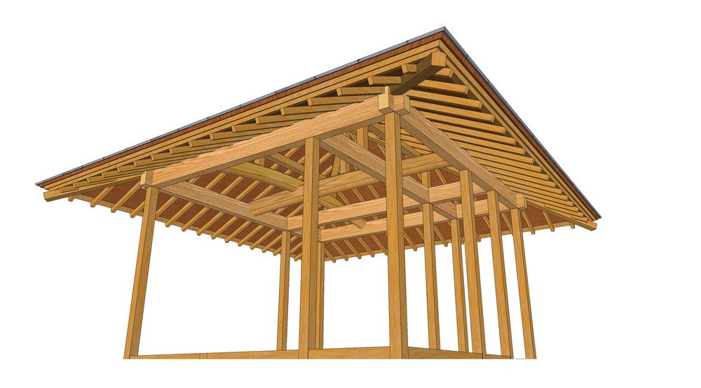 Japanese Carpentry Frame Rendering