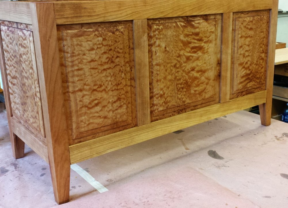 Joel Brown's frame and panel chest