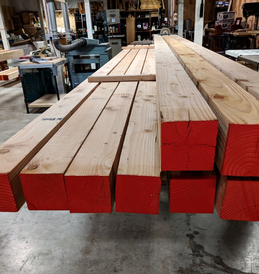 Timbers of twenty feet in length for Erik's workshop