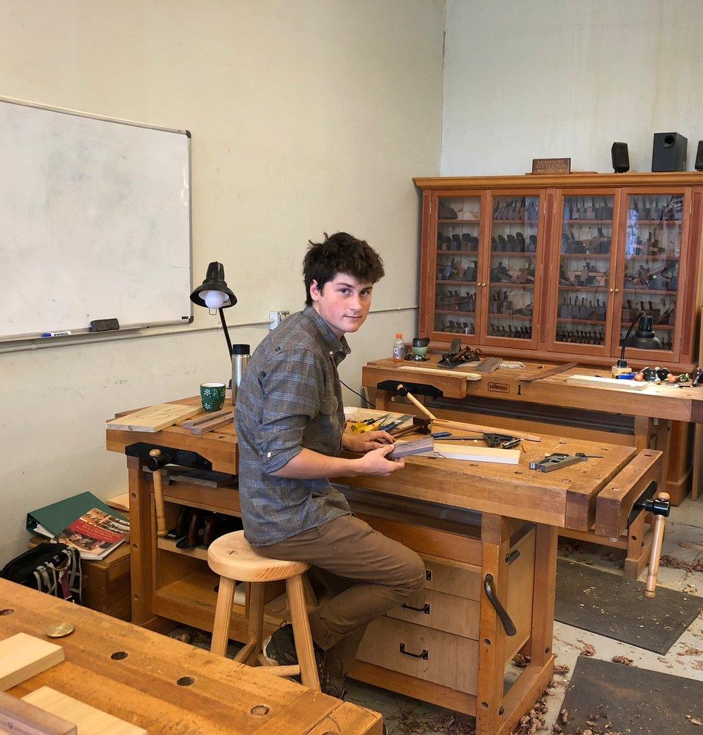 Garrett Kitchen, Foundations of Woodworking Graduate