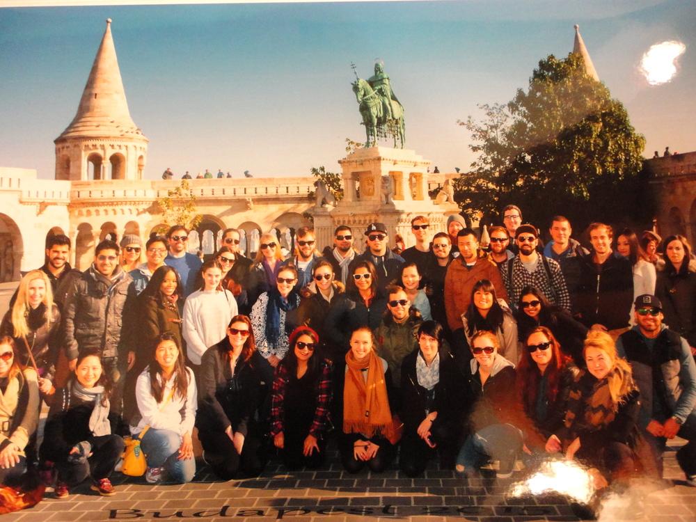 Contiki group photo
