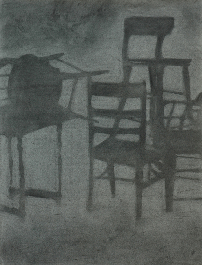 "Drawing I - charcoal on paper, 18""x24"""