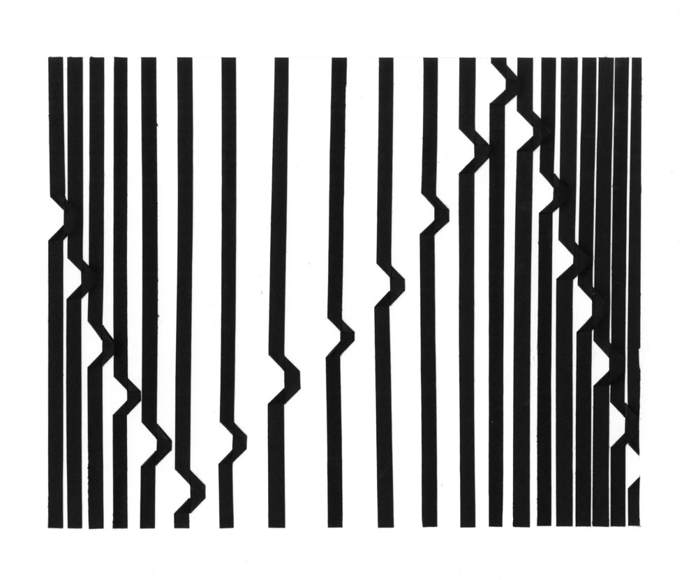 "2D Design - cut paper, 10""x8"""