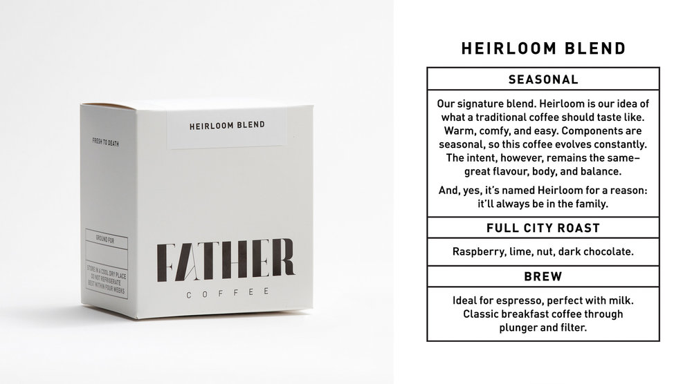 HEIRLOOM BLEND 250g — ZAR 90