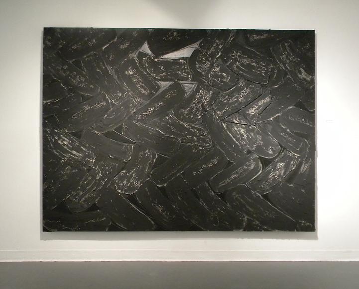 """Lace   2012  mortar, tempera, acrylic, graphite  72"""" x 96"""""""