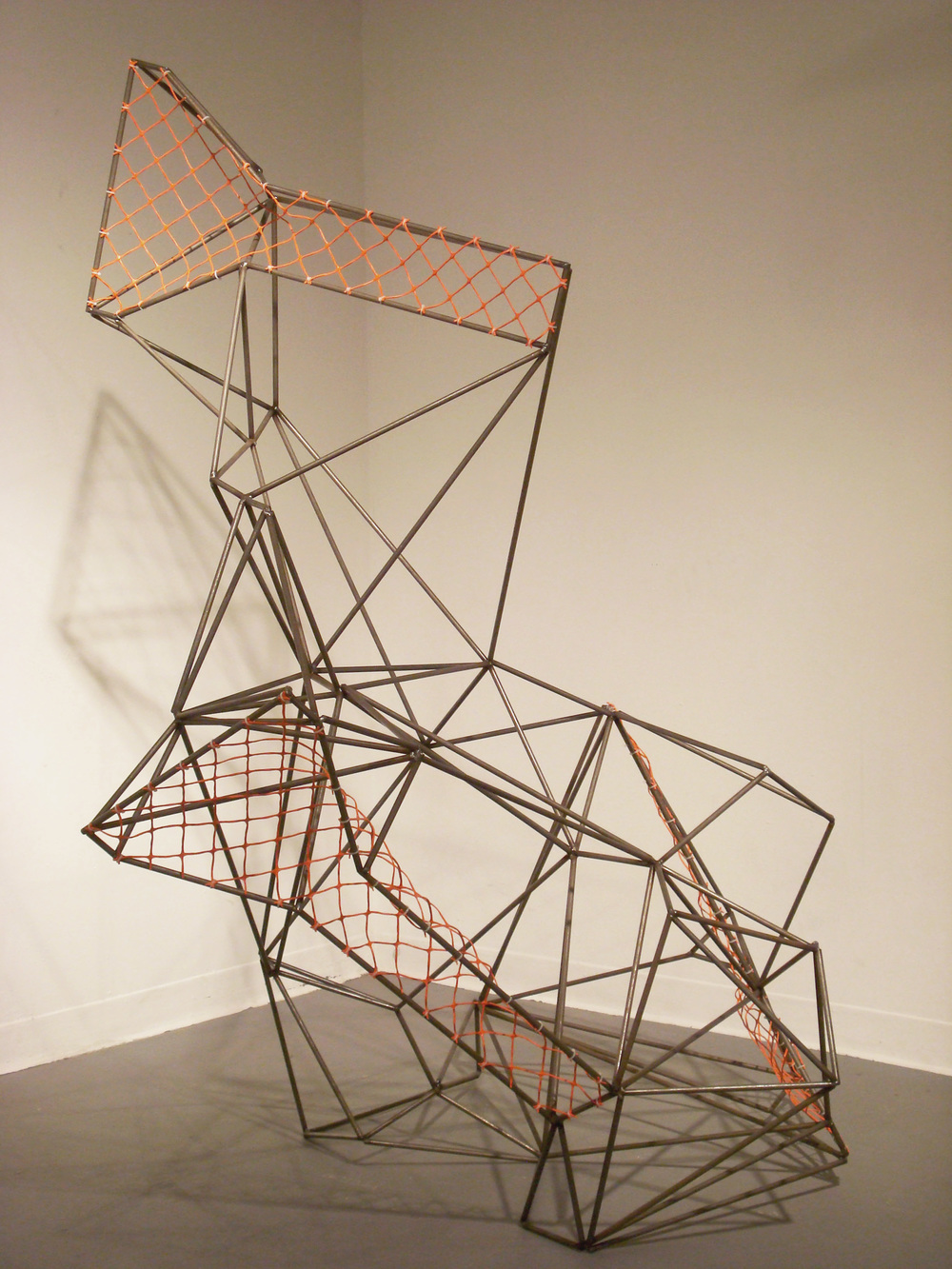 "Untitled    2012    steel, plastic, zip ties    62"" x 44"" x 36"""