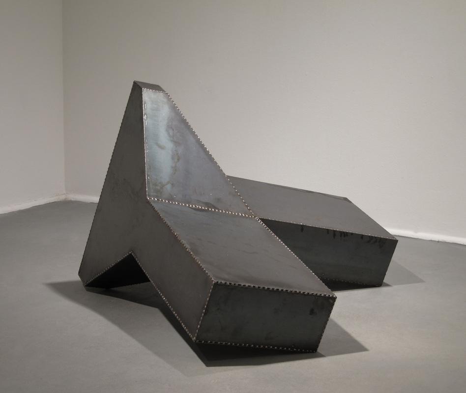 """Untitled    2011    steel    18"""" x 36"""" x 36"""""""