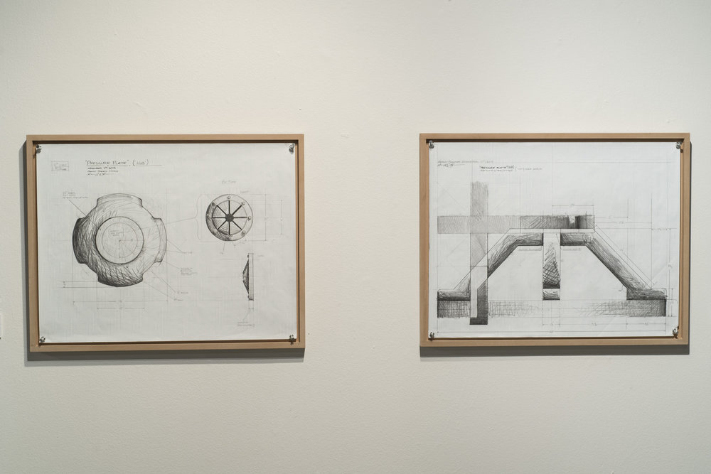 PREPARATORY STUDIES (HUB)   2014  GRAPHITE ON GRID PAPER