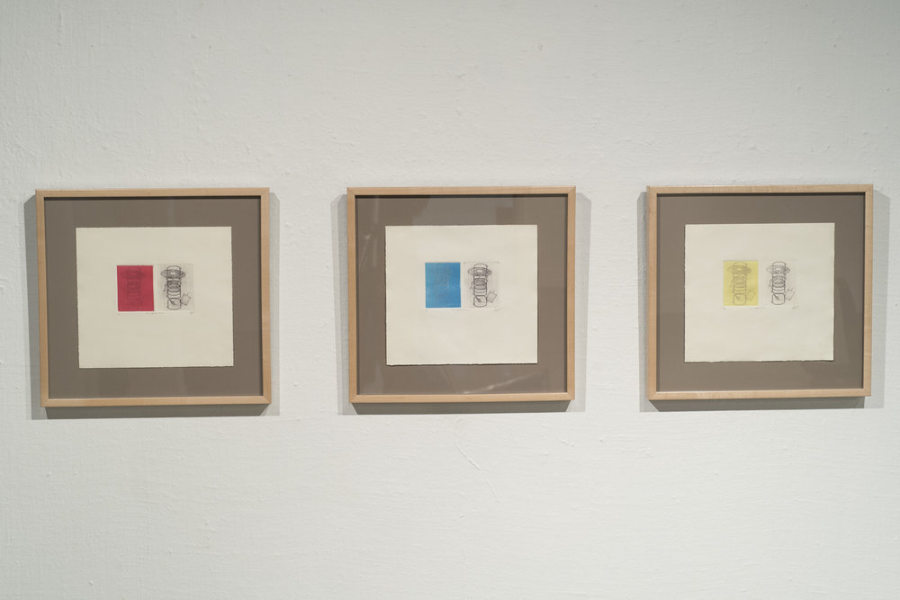 OF WORK AND PLAY (I, II, III)   2013  ETCHING