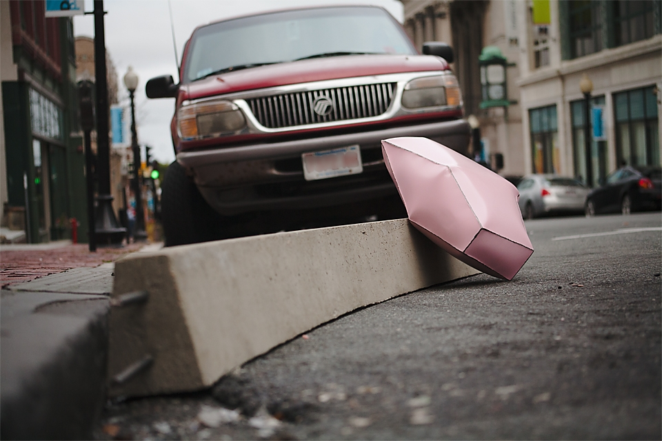 "PINK CADILLAC   2012 POLYCHROME INFLATED STEEL, CONCRETE  12""x 14""x 94"""