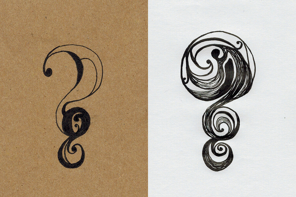 January 3: Question mark doodles.